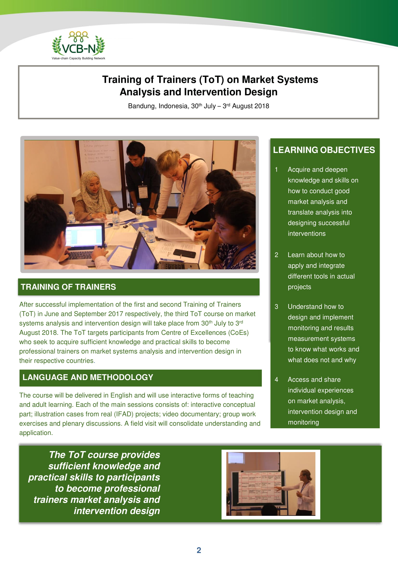 Training On Market Systems Analysis And Intervention Design Vcb N